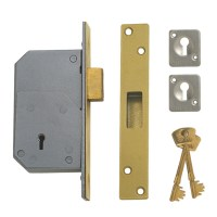 Chubb - Union 3G110 5 Detainer Dead lock 73mm Polished brass
