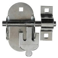 Crompton 4A Oval Padlock Bolt Padbolt 114mm Galvanised