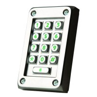 Paxton 521-715 Vandal Resistant Stainless Steel Keypad for Switch2 and Net2