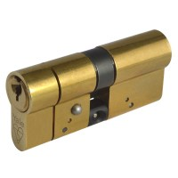Yale Anti Snap Double Euro Cylinder Lock 35/35 70mm Brass