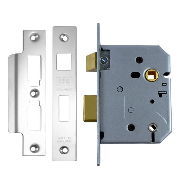 Union 2226 Bathroom Lock 76mm Satin Chrome