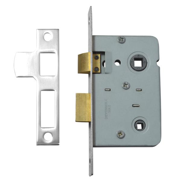 Legge 3751 Bathroom Mortice Lock Turn Operated 64mm Or