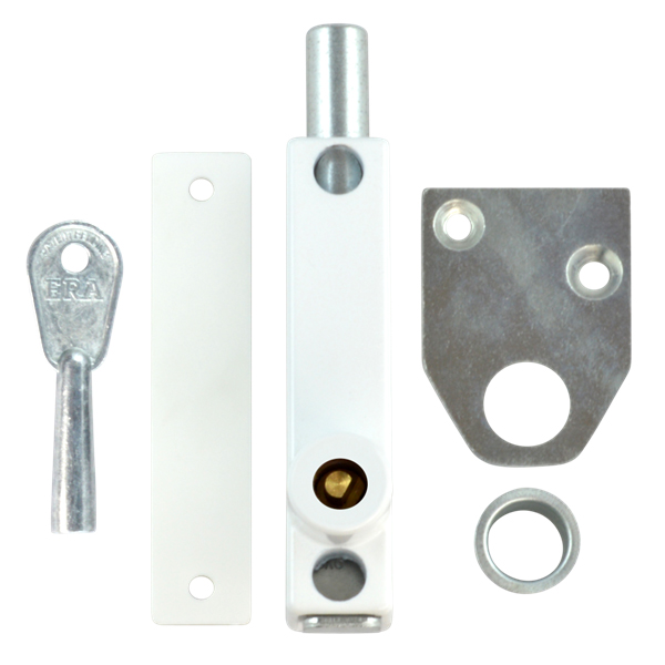 ERA 805-12 Universal Press Bolt Standard Key White