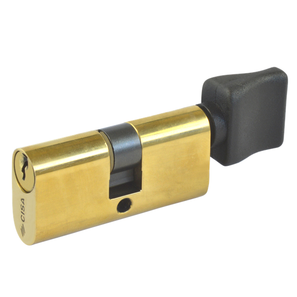 CISA 08230 Small 5 Pin Oval Key and Turn Cylinder Brass
