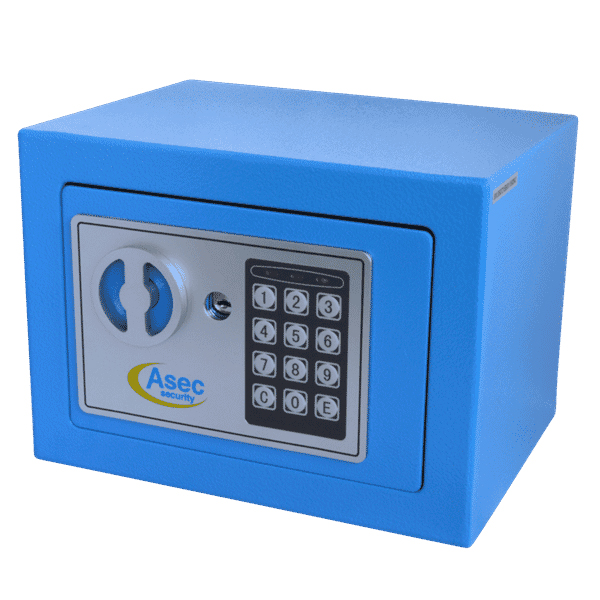 Asec Mini Compact Digital Small Safe With Key Override