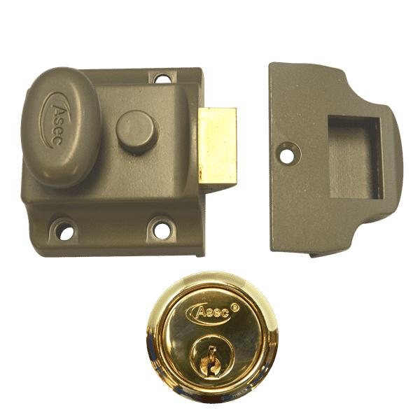 ASEC Traditional Cylinder Nightlatch Rim Door Lock