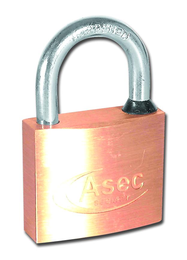 Asec Master Keyed BB 5 Pin Brass Padlock 40mm
