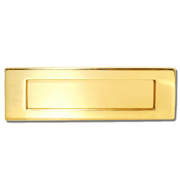 Asec Victorian Letter Plate Polished Brass 276mm