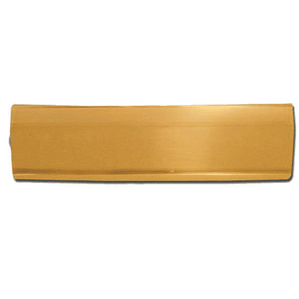 Asec Door Letter Box Tidy Polished Brass