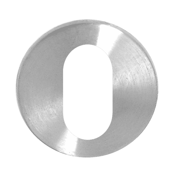 Asec Stainless Steel Escutcheon Oval Cylinder 5mm thick