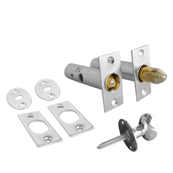 Asec Mortice Door Bolt and Turn Knob Polished Chrome
