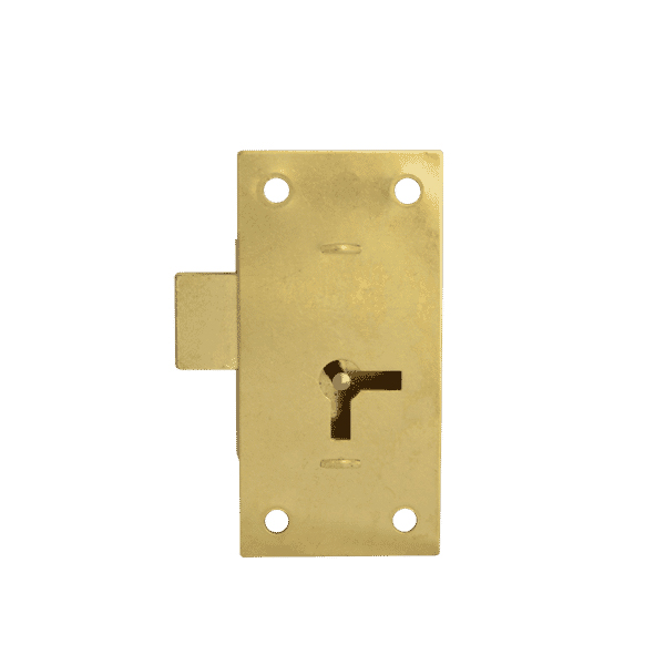 Asec 100 - 1 Lever Straight Cupboard Lock 38mm