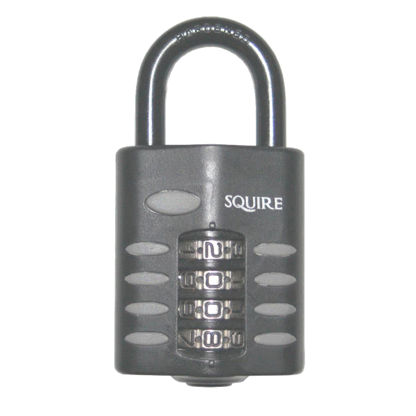 Squire CP50 4 Wheel Combination Padlock Open Shackle 50mm