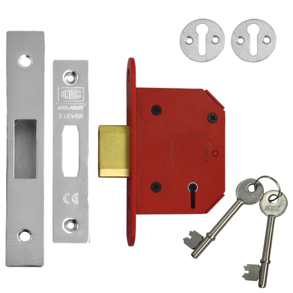 Union 2105 StrongBolt 5 Lever Deadlock 68mm Stainless Steel