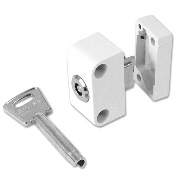 Chubb - Yale 8K120 Auto Locking Window Lock White 1 Lock 1 Key