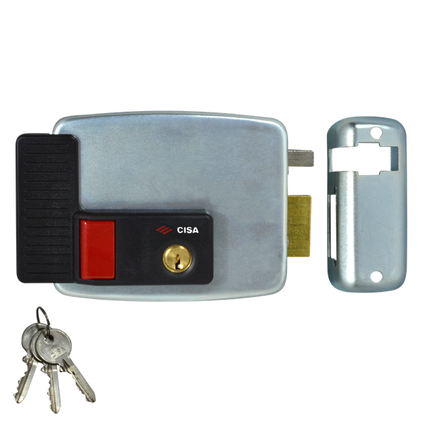 CISA 11931 Electric Rim Lock External Metal Door / Gate Right Hand In