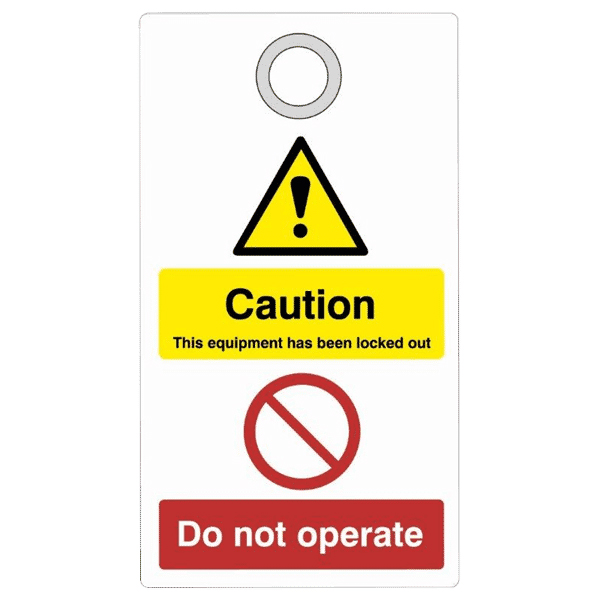 Asec Lockout Tagout Safety Tag Caution - Do Not Operate