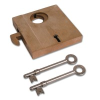 Willenhall G14 5 Lever Collapsible Hookbolt Gate Lock 96mm Brass