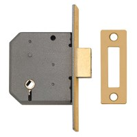 Union 2126 Turn Operated Deadlock 76mm Brass