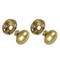 Legge 472 Round Knob Turn Brass 51mm Rose