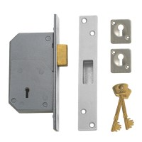 Chubb - Union 3G110 5 Detainer Dead lock 73mm Satin Chrome