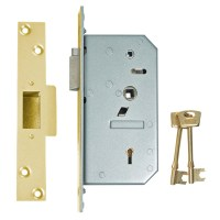 Chubb - Union 3R35 5 Detainer nightlatch Polished brass Left Hand