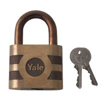 Yale 870 Series 5 Pin Cylinder Padlock 66mm Open Shackle
