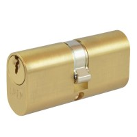 Union 2x6 5 Pin Oval Double Cylinder 65mm Brass