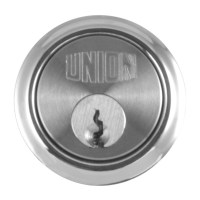 Union 1x1 5 Pin Rim Cylinder Satin Chrome