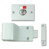 Union 8098 Bathroom Slide Indicator Bolt Anodised Silver