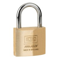 Union 3122 5 pin Brass Padlock 40mm
