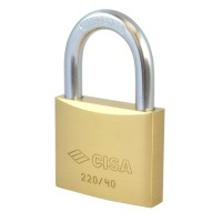 CISA 22010-40 5 Pin Brass Padlock 40mm