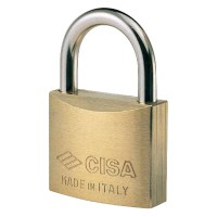 CISA 22010-20 4 Pin Brass Padlock 20mm