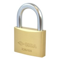CISA 22010-60 5 Pin Brass Padlock 60mm