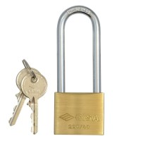 CISA 22011-41 Long Shackle 5 Pin Brass Padlock 41mm