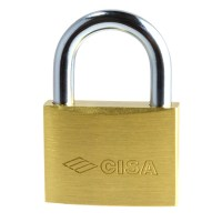 CISA 22010-50 5 Pin Brass Padlock 50mm Master Keyed BCCG00