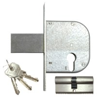 CISA 42022-50 Euro Cylinder Gate Lock 85mm Nickel Plated