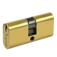 CISA 08210 Small 5 Pin Double Oval Cylinder Brass 55mm