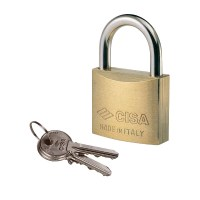 CISA 22010-50 5 Pin Brass Padlock 50mm Keyed Alike Cut BC0218