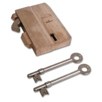 Willenhall G10 5 Lever Gate Lock 68mm Brass
