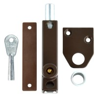 ERA 805-22 Universal Press Bolt Standard Key Brown