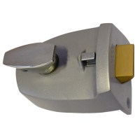 Legge 707 Nightlatch 89mm Silver Case Brass Cylinder