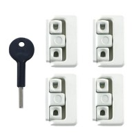 Yale-Chubb 8K101M Window Lock White 4 Locks 1 Key
