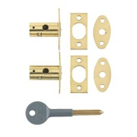 Chubb-Yale 8001M Mortice Window Bolt Brass 2 Bolts 1 Key