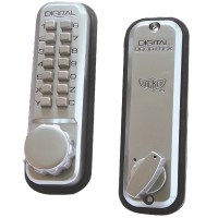 Lockey 2210 Keypad Digital Door Lock with Mortice Dead Bolt Satin Chrome