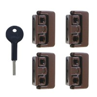 Yale-Chubb 8K101M Window Lock Brown 4 Locks 1 Key