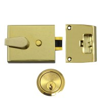 Union 1038 Nightlatch Brass Case Brass Cylinder 92mm