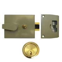 Union 1038 Nightlatch Champagne Gold Case Brass Cylinder 92mm