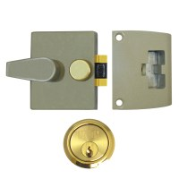 Union 1037 Nightlatch Champagne Gold Case Brass Cylinder 60mm