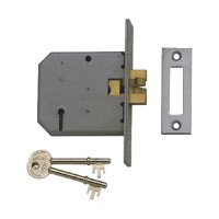 Union 2477 3 Lever clawbolt lock 76mm Brass